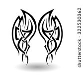 hand drawn tribal tattoo in... | Shutterstock . vector #322530362