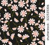 seamless daisy flower pattern...   Shutterstock .eps vector #322535306