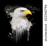 eagle illustration watercolor... | Shutterstock . vector #322540796