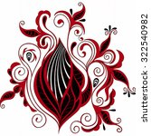 black and red stylized... | Shutterstock . vector #322540982
