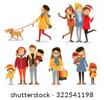 people with family and kids at... | Shutterstock .eps vector #322541198