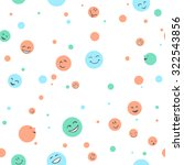 Seamless Pattern   Funny Faces