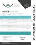blue invoice template design... | Shutterstock .eps vector #322548158