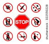 stop sign. do not smoke.  not...   Shutterstock .eps vector #322550228