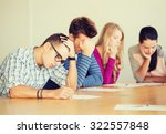 education  school  test and... | Shutterstock . vector #322557848