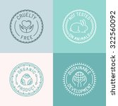 vector set of badges and... | Shutterstock .eps vector #322560092