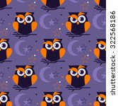 seamless pattern with night owl ...   Shutterstock .eps vector #322568186