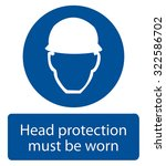 safety sign  head protection... | Shutterstock .eps vector #322586702