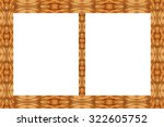 old rustic picture frame. wood... | Shutterstock . vector #322605752