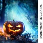 Halloween Pumpkin In A Spooky...