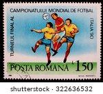 italy   circa 1990  a postage... | Shutterstock . vector #322636532