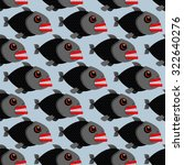 Piranha Seamless Pattern. Many...
