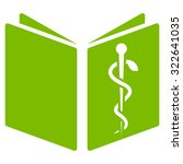 drug handbook glyph icon. style ... | Shutterstock . vector #322641035