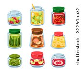 set of transparent cans with... | Shutterstock .eps vector #322645532