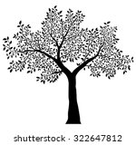tree with leaves vector | Shutterstock .eps vector #322647812