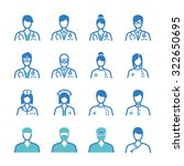 medical staff icon set.... | Shutterstock .eps vector #322650695