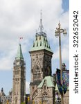 Small photo of Towers of East Block & the Parliament - Ottawa - Canada