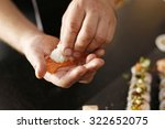 forming sushi. the steps for... | Shutterstock . vector #322652075