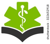 medical knowledge glyph icon....   Shutterstock . vector #322652918