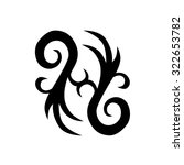 tribal tattoo vector design... | Shutterstock .eps vector #322653782