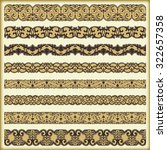 vintage border set for design  | Shutterstock .eps vector #322657358