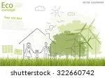tree silhouette  family  home ... | Shutterstock .eps vector #322660742