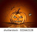 halloween sketch of pumpkin and ... | Shutterstock .eps vector #322662128