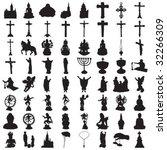 silhouettes of religion   Shutterstock .eps vector #32266309
