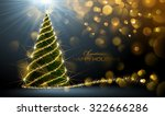 shining christmas tree on dark... | Shutterstock .eps vector #322666286