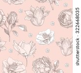 hand drawn vintage floral... | Shutterstock .eps vector #322668035