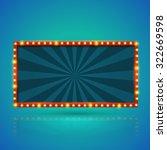rectangle retro light banner... | Shutterstock .eps vector #322669598