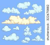 clouds. design set. hand drawn... | Shutterstock .eps vector #322670882