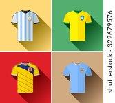 south american football team...   Shutterstock .eps vector #322679576