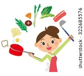 mom who cooks | Shutterstock .eps vector #322685576