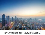 bird view at nanchang china.... | Shutterstock . vector #322696052