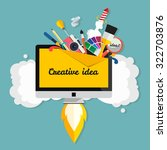 creative idea. big idea ... | Shutterstock .eps vector #322703876