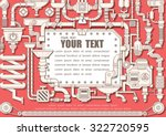 steam punk frame with... | Shutterstock .eps vector #322720595