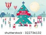 christmas winter wonderland...   Shutterstock .eps vector #322736132