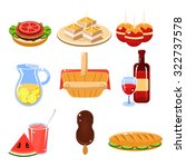 set of bright icons of... | Shutterstock .eps vector #322737578