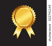 gold award with ribbon | Shutterstock .eps vector #322741145