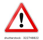danger sign | Shutterstock . vector #322748822