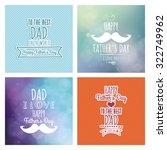 set of colored backgrounds with ... | Shutterstock .eps vector #322749962