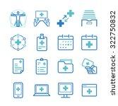 hospital management icons set   Shutterstock .eps vector #322750832