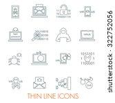 set of cyber virus digital... | Shutterstock .eps vector #322752056