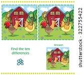 game for children   farm find... | Shutterstock .eps vector #322755422