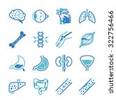 disease icons set | Shutterstock .eps vector #322756466
