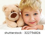 portrait of little boy with... | Shutterstock . vector #322756826