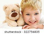 portrait of little boy with... | Shutterstock . vector #322756835