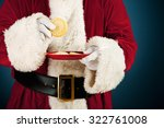 Santa  Having Sugar Cookie Snack