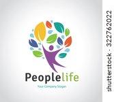 people life vector logo template | Shutterstock .eps vector #322762022